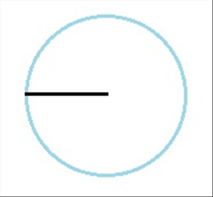 The length of a line made from the center of the circle to the edge is called the radius. It is half the length of the diameter of the circle  - shown in step 2