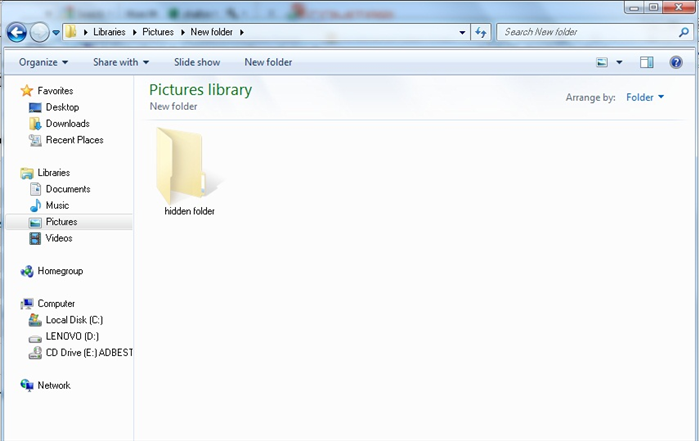 Now all the hidden directories will be seen in a transparent. folder.