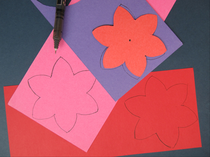 You can use the cut out flower as a template to make as many as you need.