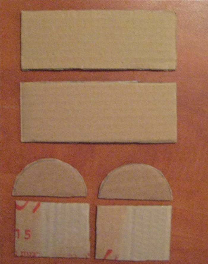 <p> You should have 6 pieces of cardboard that look like the picture.</p>